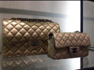 Chanel Metallic Gold Flap Bag - Cruise 2014