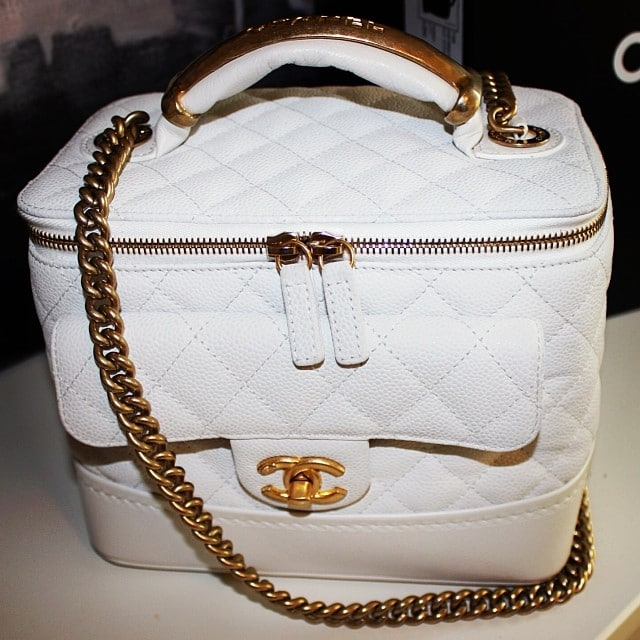 chanel vanity case bag. chanel white vanity case - fall 2013 bag