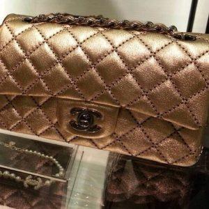 Chanel metallic mini flap bag - Cruise 2014