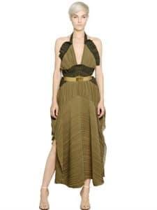 Chloe Pleated Georgette Dress - Spring 2014 - 2