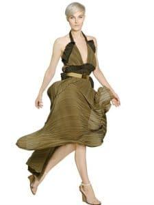 Chloe Pleated Georgette Dress - Spring 2014