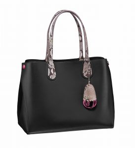 Dior Black/Roccia Python Dior Addict Shopping Tote Small Bag