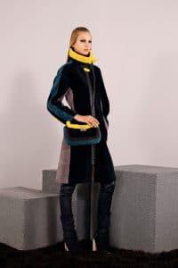 Fendi Black Multicolor Shearling Be Baguette Bag - Pre-Fall 2014