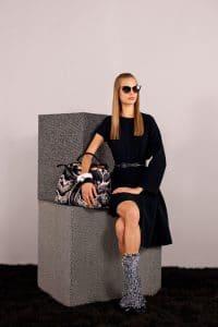 Fendi Black/White Printed 2Jours Bag - Pre-Fall 2014