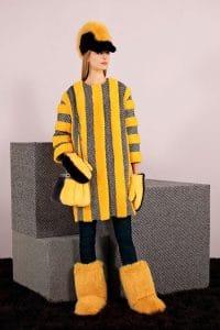 Fendi Black/Yellow Fur Peekaboo Bag - Pre-Fall 2014
