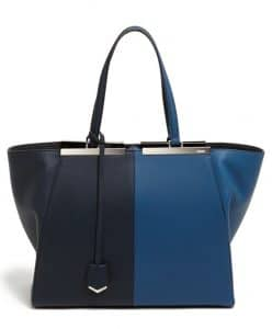 Fendi Blackboard/Cobalt 3Jours Bicolor Tote Bag