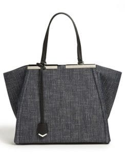 Fendi Blue Denim 3Jours Tote Bag
