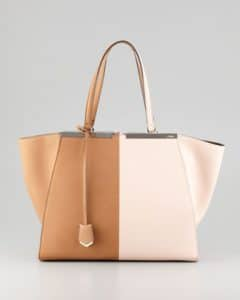 Fendi Brown/Pink 3Jours Bicolor Tote Bag