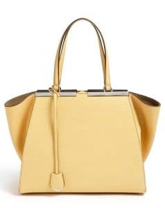 Fendi Yellow Alchemy 3Jours Tote Bag