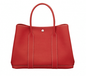 Hermes Casaque Red Country Garden Party Medium Bag