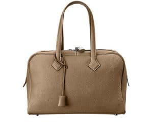 Hermes Etoupe Victoria II 35cm Bag