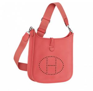 Hermes Flamingo Pink Evelyne III Small Bag