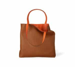 Hermes Gold/Orange Double Sens 36cm Bag