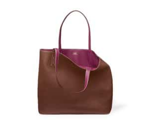 Hermes Indian Brown/Tosca Pink Double Sens 36cm Bag