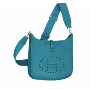Hermes Izmir Blue Evelyne III Small Bag