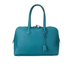 Hermes Izmir Blue Victoria II 35cm Bag