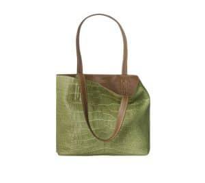 Hermes Lawn Green/Tundra Double Sens Croco Chiffon 36cm Bag