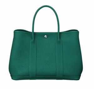 Hermes Malachite Green Garden Party Medium Bag