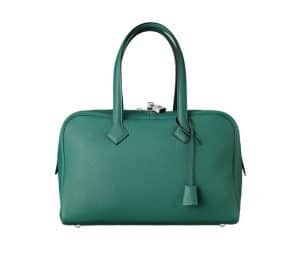 Hermes Malachite Green Victoria II 35cm Bag