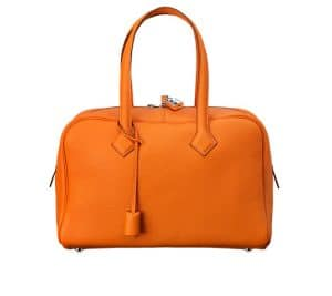 Hermes Orange Victoria II 35cm Bag