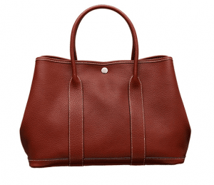 Hermes Red Garden Party Medium Bag
