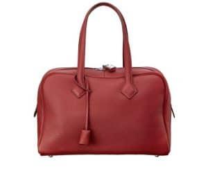 Hermes Red Victoria II 35cm Bag