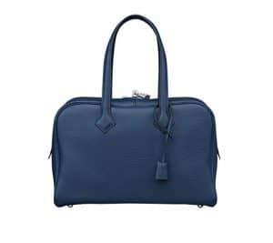 Hermes Sapphire Blue Victoria II 35cm Bag