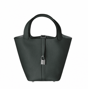 Hermes Storm Blue Picotin Lock PM Bag