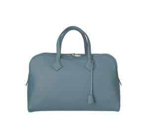 Hermes Storm Blue Victoria II 40cm Bag