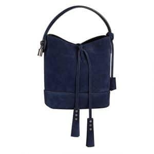 Louis Vuitton Blue Suede NN14 Bag - Spring Summer 2014
