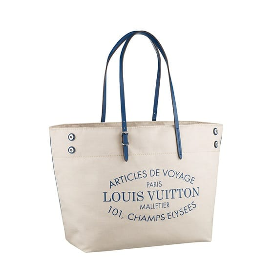 Louis Vuitton Blue Canvas Articles De Voyage Tote Bag Spring Summer 2017