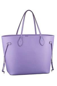 Louis Vuitton Epi Leather Neverfull Baby Blue Bag - Spring Summer 2014