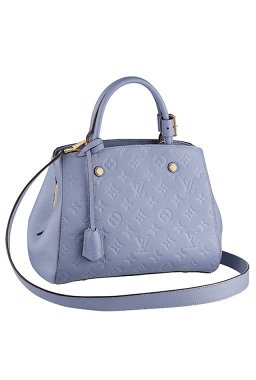 Louis Vuitton Monogram Vernis Baby Blue Tote Bag - Spring Summer 2014