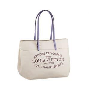 Louis Vuitton Purple/Canvas Articles de Voyage Tote Bag - Spring Summer 2014