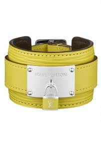 Louis Vuitton Yellow Epi Leather Cuff - Spring Summer 2014