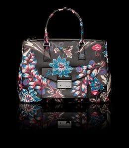 Prada Black Ramage Motif Saffiano Lux Tote with Cargo Pocket Bag