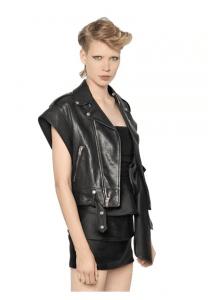Saint Laurent Nappa Leather Biker Jacket