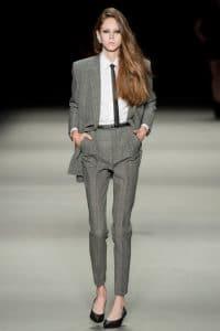 Saint Laurent Princes De Galles Wool Trousers - Spring 2014 RTW