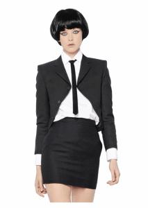 Saint Laurent Wool Crepe Bolero Jacket