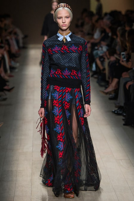 valentino embroidered opulence in the runway dresses from