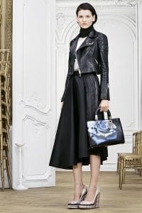 Dior Black Flower Printed Diorissimo Bag - Pre-Fall 2014