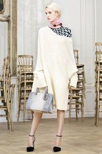 Dior White/Light Grey Crocodile Diorissimo Bag