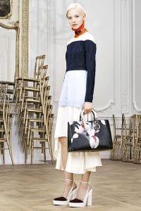 Dior Black Floral Print Diorissimo Bag - Pre-Fall 2014