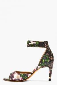 Givenchy Floral Ankle Heel Sandal