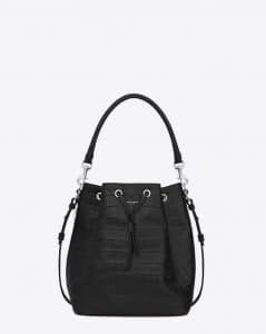Saint Laurent Croc Embossed Emmanuelle Bag