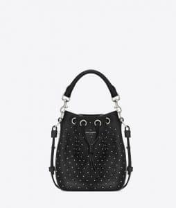 Saint Laurent Emmanuelle Studded Bucket Bag