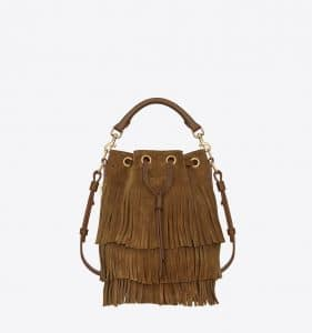 Saint Laurent Emmanuelle Suede Tassel Bag