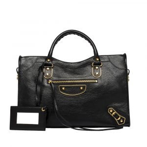 Balenciaga Black Classic Metallic Edge City Bag