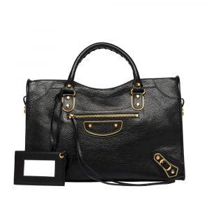 Balenciaga Black Classic Metallic Edge City Bag