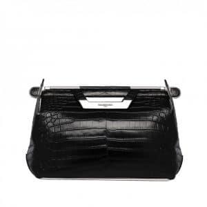 Balenciaga Black Crocodile Bag - Spring 2014